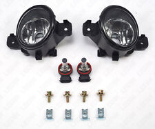 Clear Bumper Fog Light Kit For Infiniti Nissan Sentra Altima Rogue Versa w/Bulbs