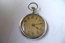 Superbe et ancienne montre a gousset femme en argent et or rose 18 carats