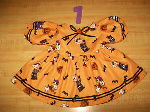"""PEANUTS SNOOPY LUCY CHARLIE BROWN HALLOWEEN DRESS for 16"""" CPK Cabbage Patch Kids"""
