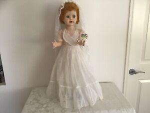 Pedigree Brighton Belle bride doll 28inch(ALL ORIGINAL) 1950's