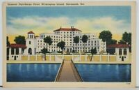 Savannah Ga General Oglethorpe Hotel Wilmington Island Linen Postcard M5