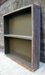 "5 avail 36""x36"" Antique Vintage Old Industrial HEAVY Steel Metal Shelf Book Case"