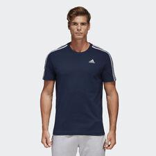 Adidas Essential Mens Short Sleeve  3 Striped Tee T Shirt Uk Sizes 2XL/3XL