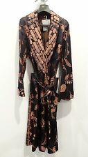 BRAND NEW $5,770 TOM FORD MEN'S BROWN SILK ROBE size Small