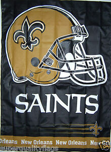 27X37 NEW NEW ORLEANS SAINTS BANNER WITH FLAG POLE SLEEVE MADE USA