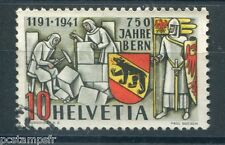 SUISSE SCHWEIZ, 1941, timbre 370, BERNE, oblitéré, VF STAMP ANNIVERSARY
