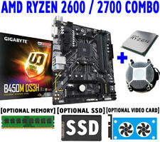 AMD RYZEN 5 7 2600 2700 CPU+GIGABYTE B450M DS3H AM4 Motherboard+DDR4+SSD COMBO