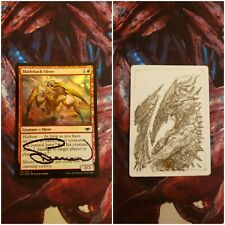 Bladeback Sliver FOIL Signed Artist Proof with Sketch MTG