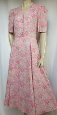 Laura Ashley Sommerkleid 40 Blumen grün rosa vintage Hochzeit Baumwolle