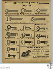 1929 PAPER AD Segal Rectifying Key Cutter Cutting Machine Hand Power