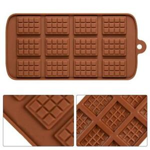 12 Chunk Chocolate Bar Candy Mold Chocolatier Silicone Mould Snap Wax Melt