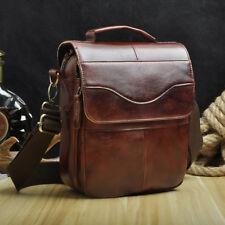 Men Real Leather Cross Body Sling Messenger Shoulder Bag Satchel Tote Cross Body