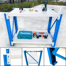 1.2M Length Steel Garage Work Bench Shelves Workshop Workbench Racks Workbenches