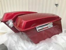 Harley fire red stock size saddlebags with hardware kit road king glid