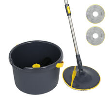 360° Magic Spin Mop & BucketSet Microfiber floor cleaner System with 2 Pads