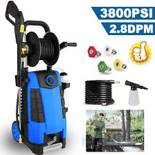 3800PSI 2.8GPM Electric Pressure Washer High Power Cold Water Washing Cleaner.