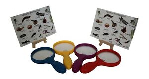 5 X Magnifying Glass 15 cm Ideal For Bug Hunting Includes FREE SPOTTER CARDS