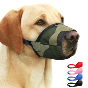 Dog Muzzles to Prevent Biting Barking Soft Nylon Mouth Cover Size 7 Labrador XL