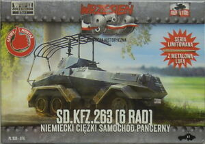 Heavy Armored Car Sd.Kfz.263 (6 Wheel) , First to fight , 1/72 Plastic, New