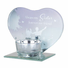 Glass Tea Light Candle Holder by Reflections of the Heart - Sister