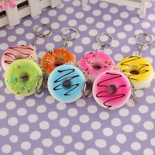 Colorful Squishy Donuts Key Chain Cell Phone Bag Pendant Soft Bread Color Random