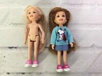 Ty Li'l Lil Ones Doll Dolls Toy Small Mini Lot Blonde Brunette Brown Hair 2009