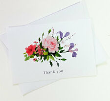 15 Thank You Cards Flower Wedding Notes Business Birthday Thankful For THANK09
