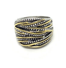 Beautiful Chunky Two Toned Ring Size 9.5