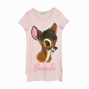 DISNEY chemise de nuit femme BAMBI rose S M L XL 36 38 40 42 44 46 NEUVE