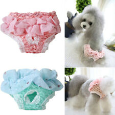 Pet Physiological Pants Diaper Panties Underwear for Female Dog Chiffon Pink