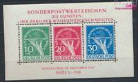 Berlin (West) Block1 geprüft (kompl.Ausg.) postfrisch 1949 Währungsg (9223632
