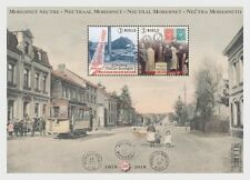 Belgium  2019  Neutral Moresnet  stamp on stamp tram     m/s         mnh    G