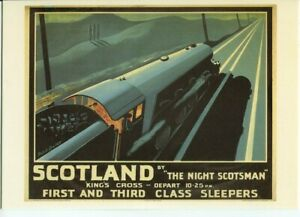 Drumahoe Postcard LNER Scotland by Night Scotsman DGR213 repro poster Bartlett