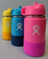 Hydro Flask Kids Wide Mouth Stainless Steel Water Bottle With Straw Lid 12oz