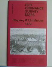 OLD ORDNANCE SURVEY MAPS LONDON STEPNEY & LIMEHOUSE 1870 GODFREY EDITION