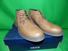 Men's IZOD CARAVAN Dark Tan Lace-up Oxford Boot Shoes New Size 8.5 Med