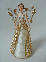 Gisela Graham Leaves of Gold Tradditional Resin/Fabric Tree Topper Small (18cm)