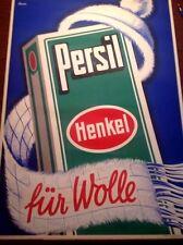 Original vintage poster PERSIL Fur Wolle Hessen 1937