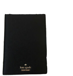 Kate Spade Grove Street Imogene Black Leather Passport Holder Card Wallet