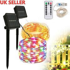 100-300LED Solar/USB Power Fairy String Copper Lights Garden Party Decor Outdoor