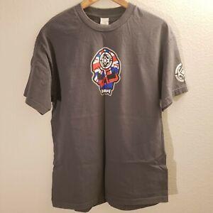 Maui Built Mens XL Tshirt Gray Skull w/ Flag Classic Fit