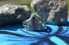 Classic 925 Sterling Silver Trinity Celtic Pattern Design Ring Size 6.5