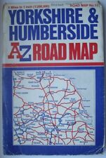 A to Z Map ~ Yorkshire & Humberside ~ Folding Map ~ Reasonably Good Condition