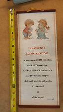 Pergaminos 'La Amistad Y Las Matematicas'- Adornos Cristianos