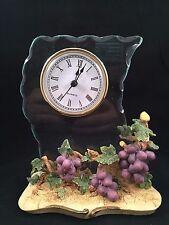 CASA ELITE Decorative Clock with Grape Design - M. VALENTI - Wine Purple Glass