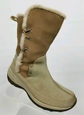 Columbia Delancey Womens Winter Boots Tan Suede Water Resistant Shearling Sz 6