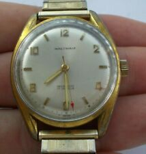 RARE Vintage Men's Waltham Wind Up 17 Jewels Watch Wristwatch Working Swiss NR