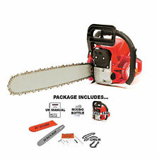 """Heavy Duty 20"""" 52cc Petrol Chainsaw Saw Cutter & Chain & Cover 2.2kw Tool Kit"""