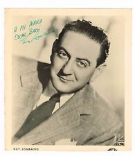 Guy Lombardo Band Leader Autographed Signed Photo 8 X 9 Puerto Rico