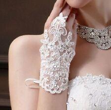 Gants de mariée mitaines BLANC Livraison SUIVI 48H accessoires de mariage